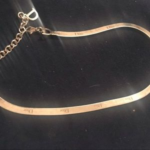 Dior engraved choker necklace